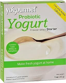 4 Pack of Yogourmet Yogurt Starter with Probiotics - Make Fresh Yogurt at Home - 5 g Each / Pack of 6