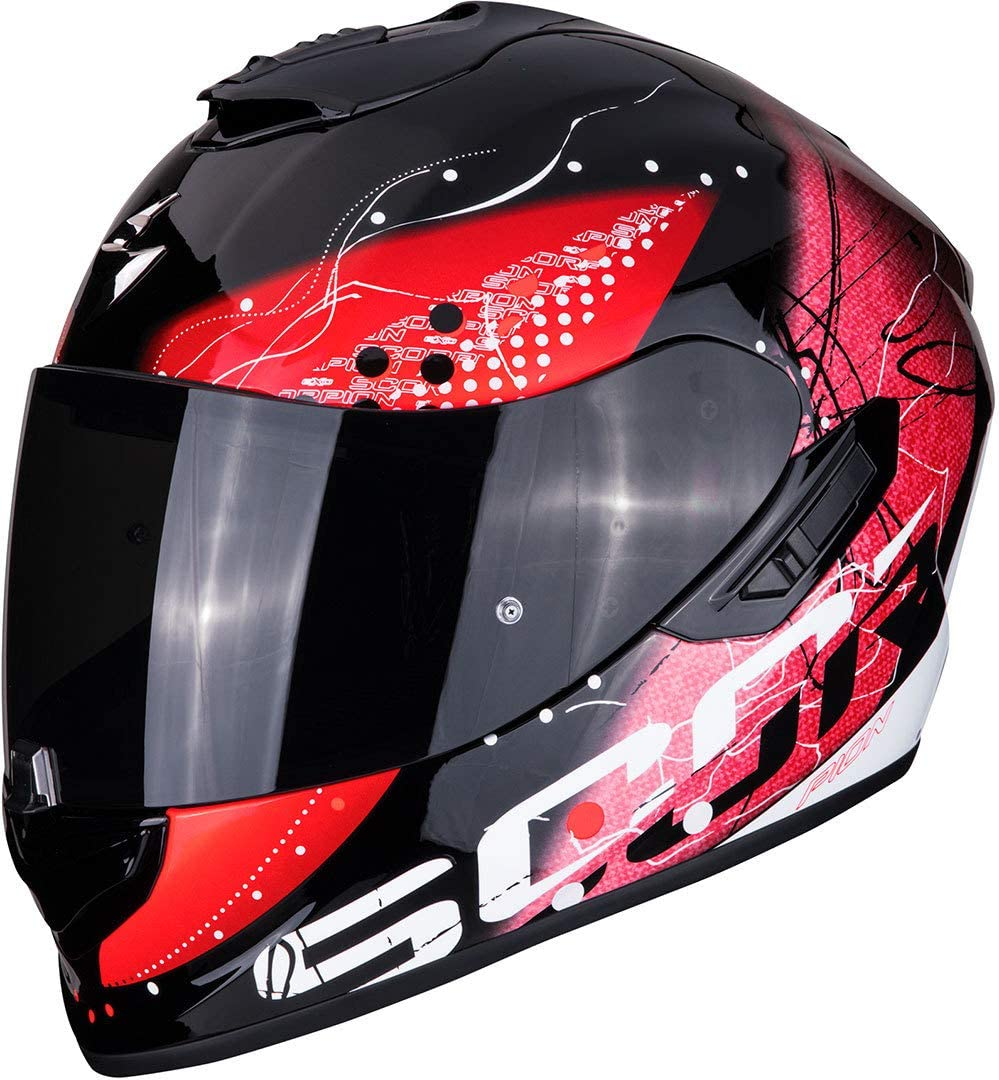Scorpion Unisex Erwachsene Nc Motorrad Helm Schwarz Rot S Auto