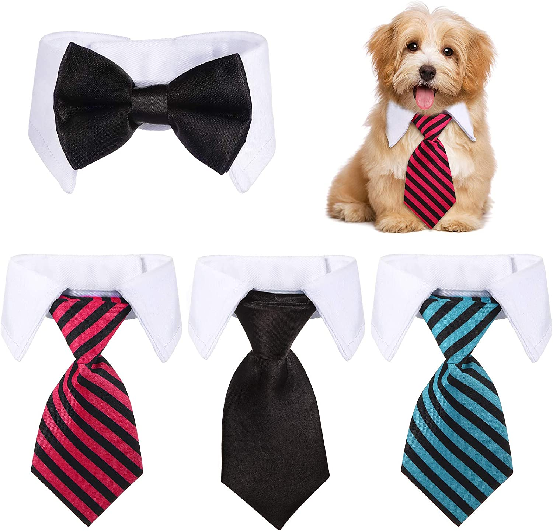 4 Pieces Adjustable overseas Pets Dog Cat Tie Bow Indefinitely Costu Tuxedo Pet Formal