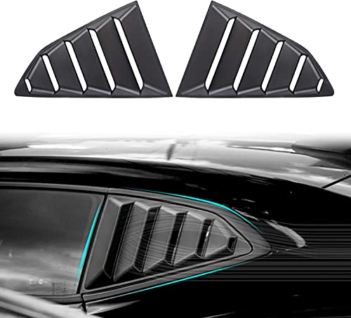 Dixuan Auto Parts Rear Window Louvers Windshield Sun Shade Cover Lambo Style Matte Black for Chevrolet Chevy Camaro 2...