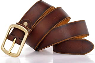 Belt for men Full Grain With Leather Heavy Single Prong Buckle Jeans Dress Beautifully Packaged