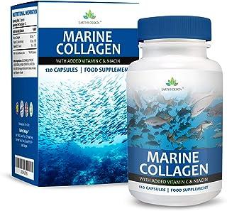 Colágeno Marino – 400mg Suplemento con Niacina y Vitaminas C y B3 – Suplemento