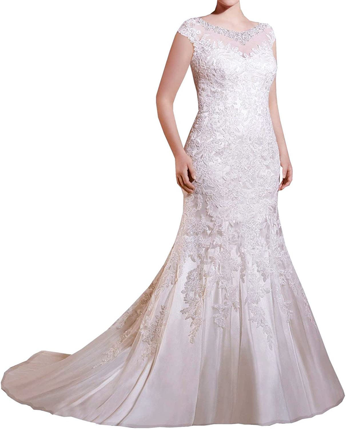 Baixia Long Sleeve Lace Wedding Dress Bridal Ball Gowns