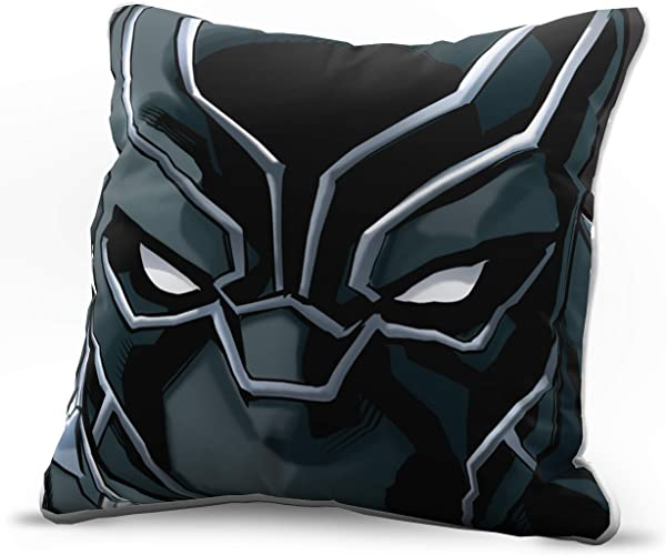 Jay Franco Marvel Avengers Black Panther Face Decorative Pillow Cover Kids Super Soft 1 Pack Throw Pillow Cover Measures 15 Inches X 15 Inches Official Marvel Product
