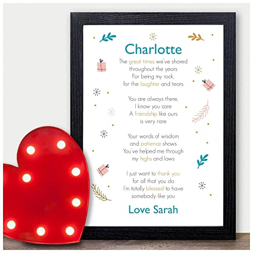 PERSONALISED Gifts For A Best Friend Christmas Birthday Presents KEEPSAKE