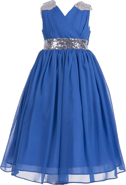 ekidsbridal Sequins Chiffon Flower Girl Dress Graduation Dress Evening and Prom Dress 187