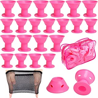 40PCS Hair Rollers Large & Small Silicone Curlers for Hair Styling Silicone Curling Rollers Salon Tool