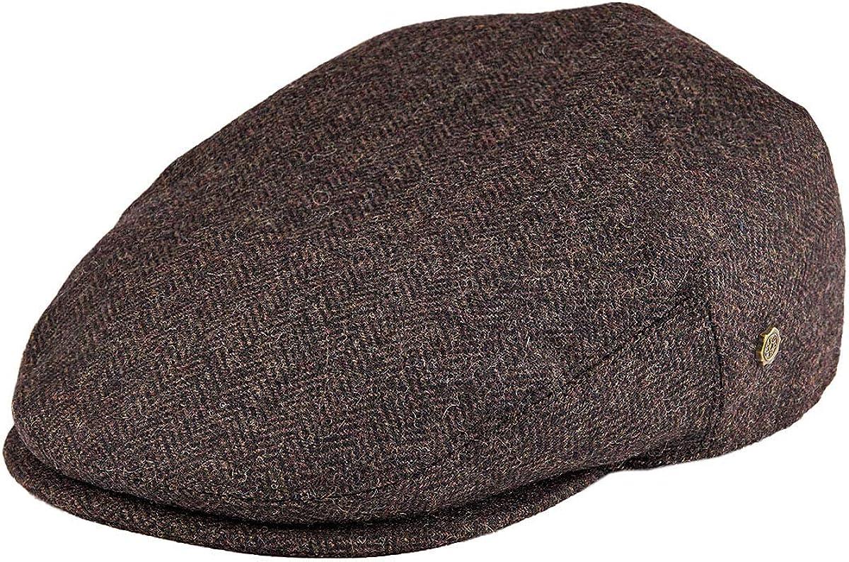 VOBOOM Men's Herringbone Flat Ivy Newsboy Hat Wool Blend Gatsby Cabbie Cap