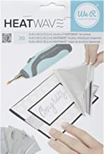 American Crafts 30 Piece We R Memory Keepers Heatwave Pen Foil, 4 x 6, Silver