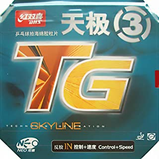 DHS NEO Skyline TG 3 with Control and Speed Pipsin Table Tennis Rubber Sheet