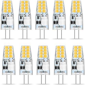 10pcs 4 5w G4 Led Lampe Ersetzt 35w 40w Halogen Lampen Ac Dc 12v 380lm Warmweiss 3000k 51 Smd2835 360 Abstrahlwinkel G4 Led Leuchtmittel Rundstrahler Birne Amazon De Beleuchtung