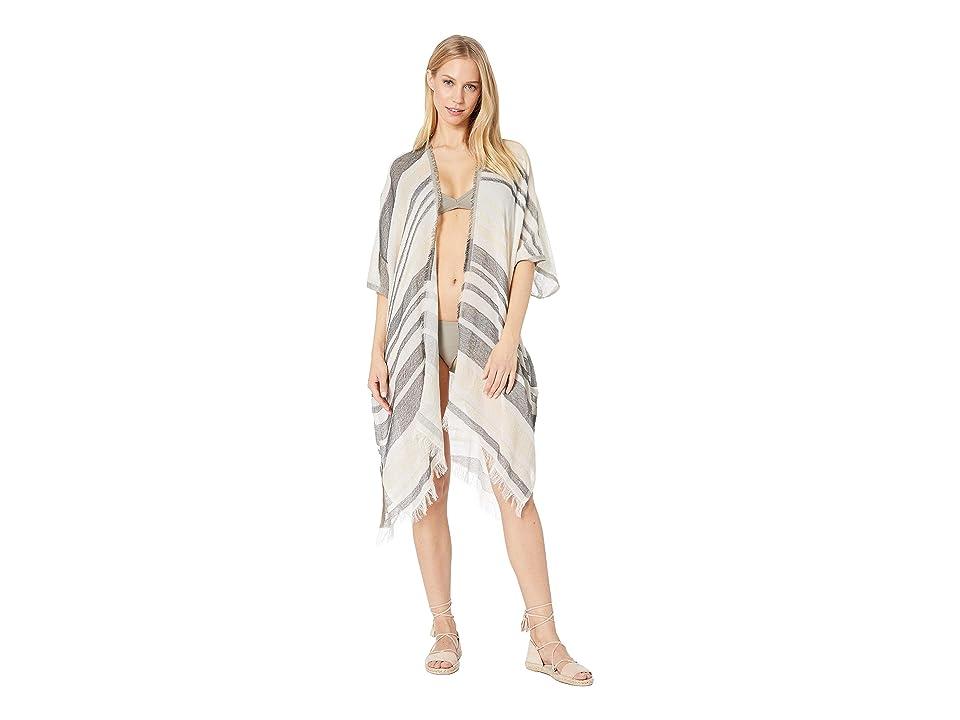 Echo Design Diagonal Stripe Cardigan (White) Women