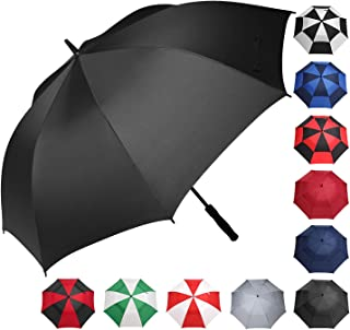 Golf Umbrella 68/62/58 Inch Large Oversize Double Canopy Vented Windproof Waterproof Automatic Open Stick Umbrellas for Men and Women