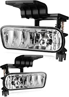 AUTOFREE Fog Light for 99-02 CHEVY Silverado 1500 & 2500/00-01 Silverado 3500/00-06 CHEVY Tahoe& Suburban OEM Lamps Assembly 1 Pair with Bulbs- 899 12V37.5W (Clear lens)