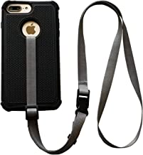 foneleash 3 in 1 Universal Cell Phone Lanyard Neck Wrist and Hand Strap Tether (Shade of Gray) Regular Wrist Size