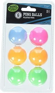 Amscan Cocktail Neon Pong Balls 6 Pieces