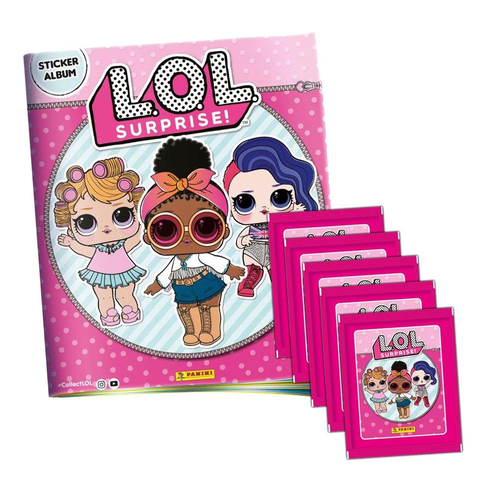 Panini De l.o.l. Surprise stickerko llektion – 1 x álbum de Recortes + 5 Booster Paquetes: Amazon.es: Juguetes y juegos
