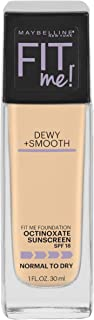 Maybelline New York Fit Me Dewy + Smooth Foundation Makeup, Fair Ivory, 1 Fl Oz