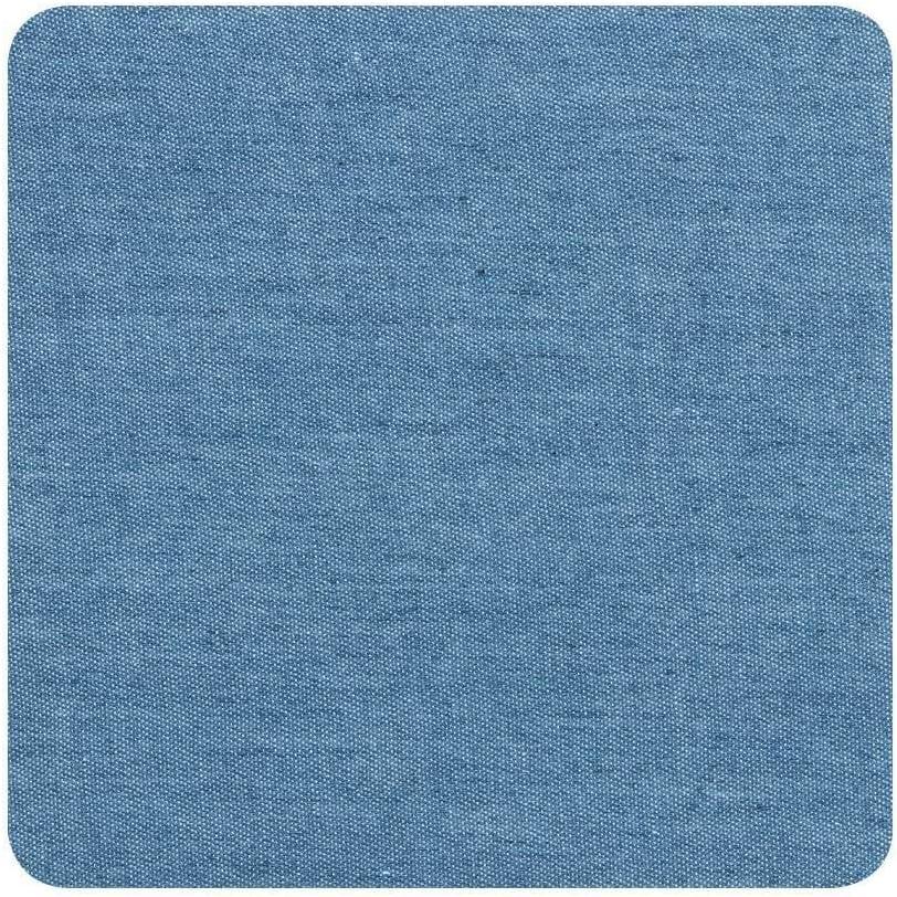 JIAHUI 4/12 piezas de tela de codo, parches para planchar, ropa manual de reparación de pantalones, rodilleras, ropa autoadhesiva, parche de reparación de agujeros (color: 4 piezas azul cielo)