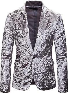 Men's Classic Blazer Fashion Pure Corduroy Casual Single Button Corduroy Suit Jacket Coat Wine Red Purple Black Suit Jacke...
