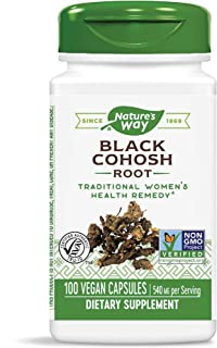 Nature's Way Black Cohosh Root 540 mg, 100 Vegetarian Capsules