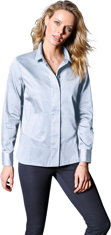 DAY.LIKE DAY.LIKE DAY.LIKE Damen Blause mit Grünckter Knopfleiste Schlitze B078Z3WKJ2  Meistverkaufte weltweit d3ca68