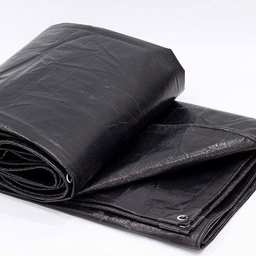 Tissu imperméable à l'eau imperméable Bache noire épaisse, bache résistante à l'usure de bache de voiture d'isolation de prougeection solaire d'anti-vieillissement de haute température anti-vieillissement