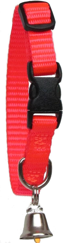 Sandia Pet Products 3 8  REGULAR Blaze orange Ferret Collar with Bell  Adjustable 6 to 8 Inches