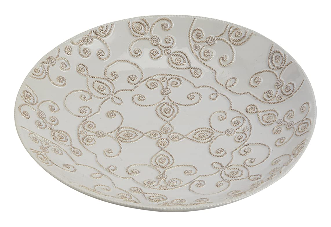 Mud Pie Knot & Beau Pasta Bowl, Off White