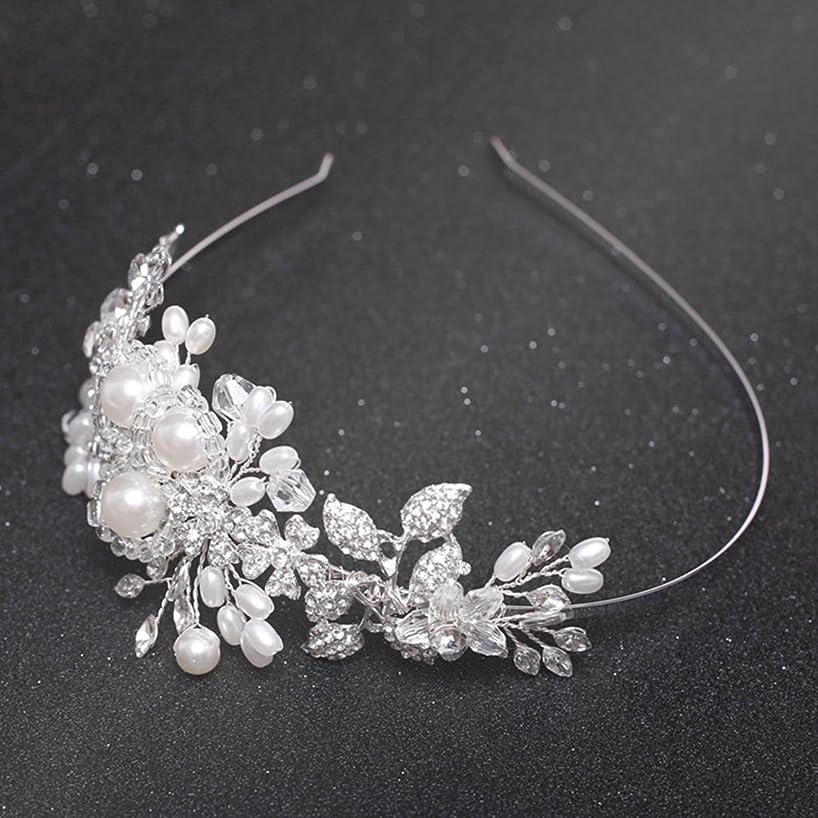 VIccoo Floral Headband Bride Wedding Handmade Pearl Women Jewelry Prom Decoration Gifts