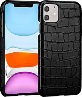 FulSoulComM iPhone 11 Leather Case Slim Lightweight Case for Apple iPhone 11 Support Wireless Charging Premium Hard Back Cover Protective Case for iPhone 11 6.1