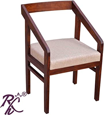 Raj Handicraft Sheesham Wood Handmade Armrest Chair for Office Study