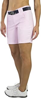 Belted Golf Shorts-Bloom Check