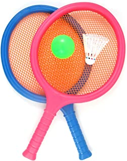 Liberty Imports Badminton Set with 2 Rackets, Ball and Birdie for Boys and Girls