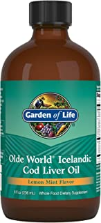 Garden of Life Olde World Icelandic Cod Liver Oil Liquid - Lemon Mint Flavor, 8 fl oz *Packaging May Vary*