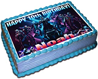 Fortnite (10 Season) Personalized Cake Toppers Icing Sugar Paper 1/4 8.5 x 11.5 Inches Sheet Edible Frosting Photo Birthday Cake Topper Fondant Transfer (Best Quality Printing)
