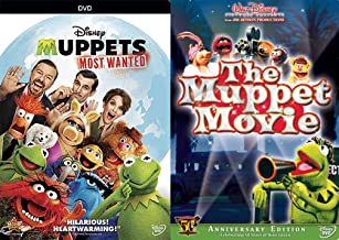 50 Years of Being Green the Muppets Double Feature Original Movie + The Most Wanted Jim Henson DVD Kermit Miss Piggy Fozzi...