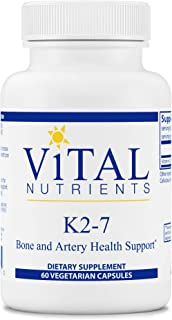 Vital Nutrients - K2-7 - Bone Strength and Artery Health Support - Promotes Cardiovascular Health - 60 Capsules per Bottle
