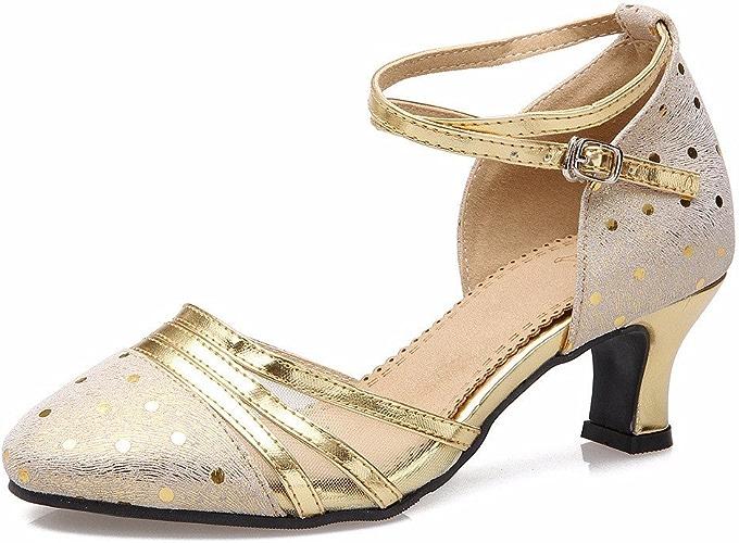 Masocking@ Femme Chaussures de Danse Sandales Fond mou moderne mesh sangle