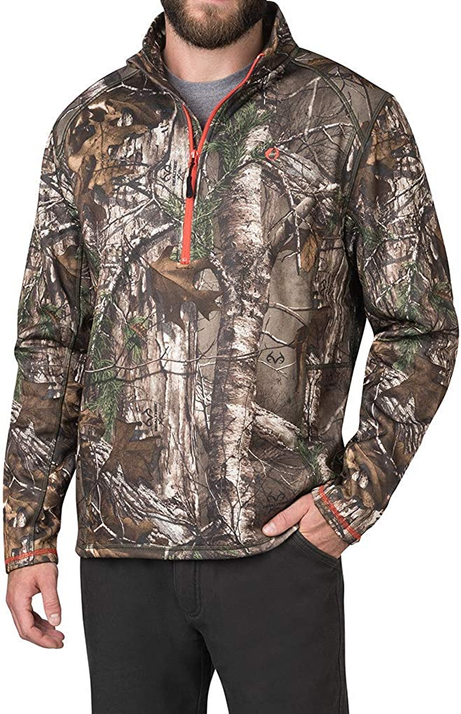 American Outdoorsman Camo 新品 送料無料 Quarter モデル着用&注目アイテム Zip REALTRE Fleece In Pullover