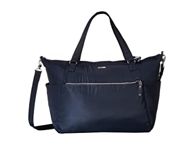Pacsafe Stylesafe Anti-Theft Tote (Navy) Tote Handbags