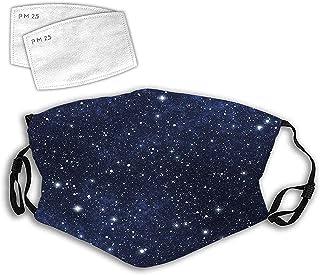 Personlighetsmask vindtät andningsbar munskydd sammansättning med prickar natthimmel tema abstrakt stil arrangemang kosmos...
