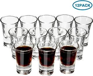 RUCKAE 12-Pack Heavy Base Shot Glasses,Clear Shot Glasses Set (1 OZ)