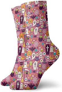Elsaone, Niños Niñas Locos Divertidos Patrones de fiesta de feliz Halloween Calcetines lindos del vestido de la novedad