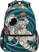 NIKIVIVI Student Backpack Astronaut Zero Gravity Fast Food Pop Big for Girls Boys Elementary School Shoulder Bag Bookbag