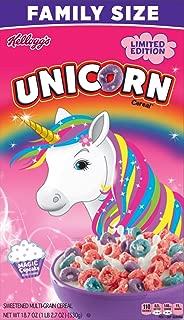 Kelloggs Limited Edition Unicorn Magic Cupcake Cereal, 18.7 oz Family Size
