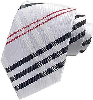Secdtie Men's Modern Tartan Checks Plaid Style Formal Ties Woven Pattern Necktie