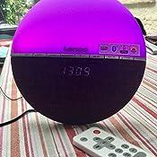 Lenco Crw 4 Uhrenradio Wellness Wake Up Light Lichtwecker Mit Bluetooth Pll Fm Empfänger Zwei Weckzeiten 2 X 3 Watt Rms Überblendanimation Mit 7 Farben Grau Heimkino Tv Video