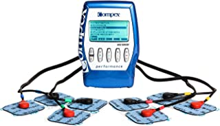 Compex Performance Blue Muscle Stimulator Bundle Kit: Muscle Stim, 12 Snap Electrodes, 5 Programs, Lead Wires, Battery, Case/Strength, Recovery, Endurance, Resistance, Pre-Warm Up