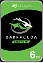 Seagate BarraCuda 6 TB Internal Hard Drive HDD – 3.5 Inch SATA 6 Gb/s 5400 RPM 256 MB Cache for Computer Desktop PC – Frustration Free Packaging (ST6000DM003)